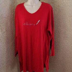 VictoriaSecret vneck long sleeve soft nightgown